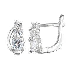 Junior Jewels Kids' Sterling Silver Simulated Birthstone Graduated Earrings