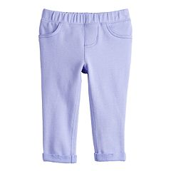 Baby Girl Jumping Beans® Solid Roll-Cuff Pants