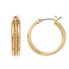 Napier Rope Hoop Earrings