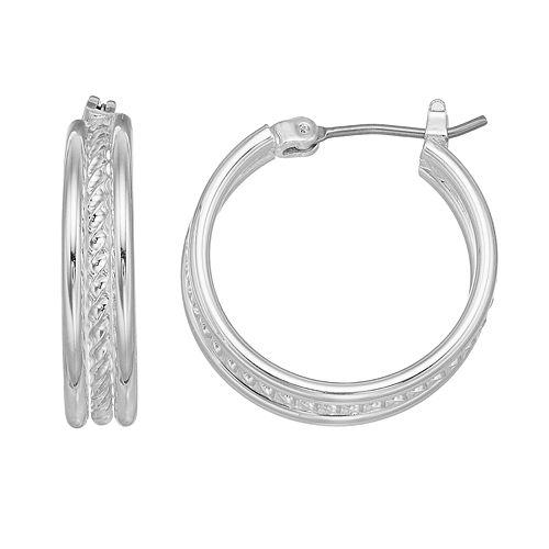 Napier Rope Hoop Earrings