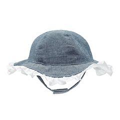 Baby Girl Chambray & Eyelet Sun Hat