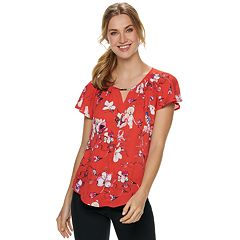 Women's Apt. 9® Ruffle Sleeve Top