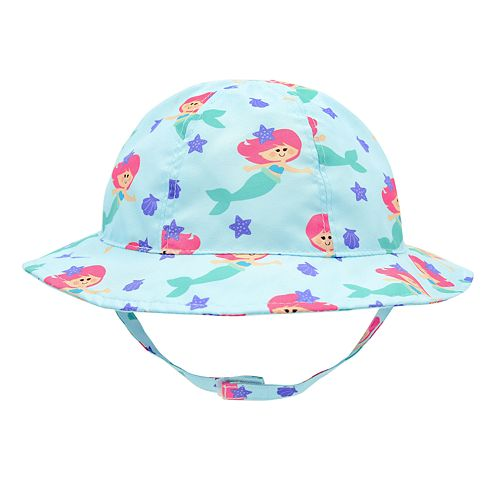 Baby Girl Mermaid Sun Hat