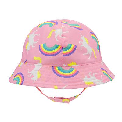 Baby Girl Unicorn & Rainbows Sun Hat