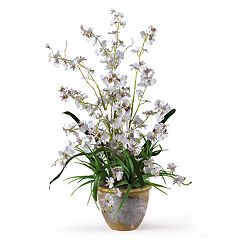 nearly natural Dancing Lady Silk Orchid Floral Arrangement