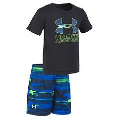 Toddler Boy Under Armour Logo Graphic Tee & Abstract Shorts Set