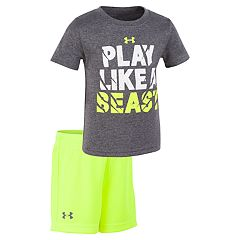 Toddler Boy Under Armour 'Play Like A Beast' Graphic Tee & Shorts Set