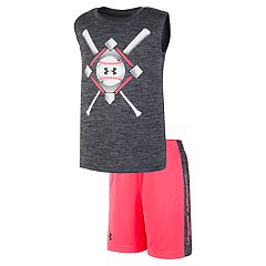 Toddler Boy Under Armour Baseball Anthem Muscle Tee & Shorts Set
