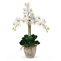 nearly natural Triple-Stem Silk Phalaenopsis Orchid Floral Arrangement