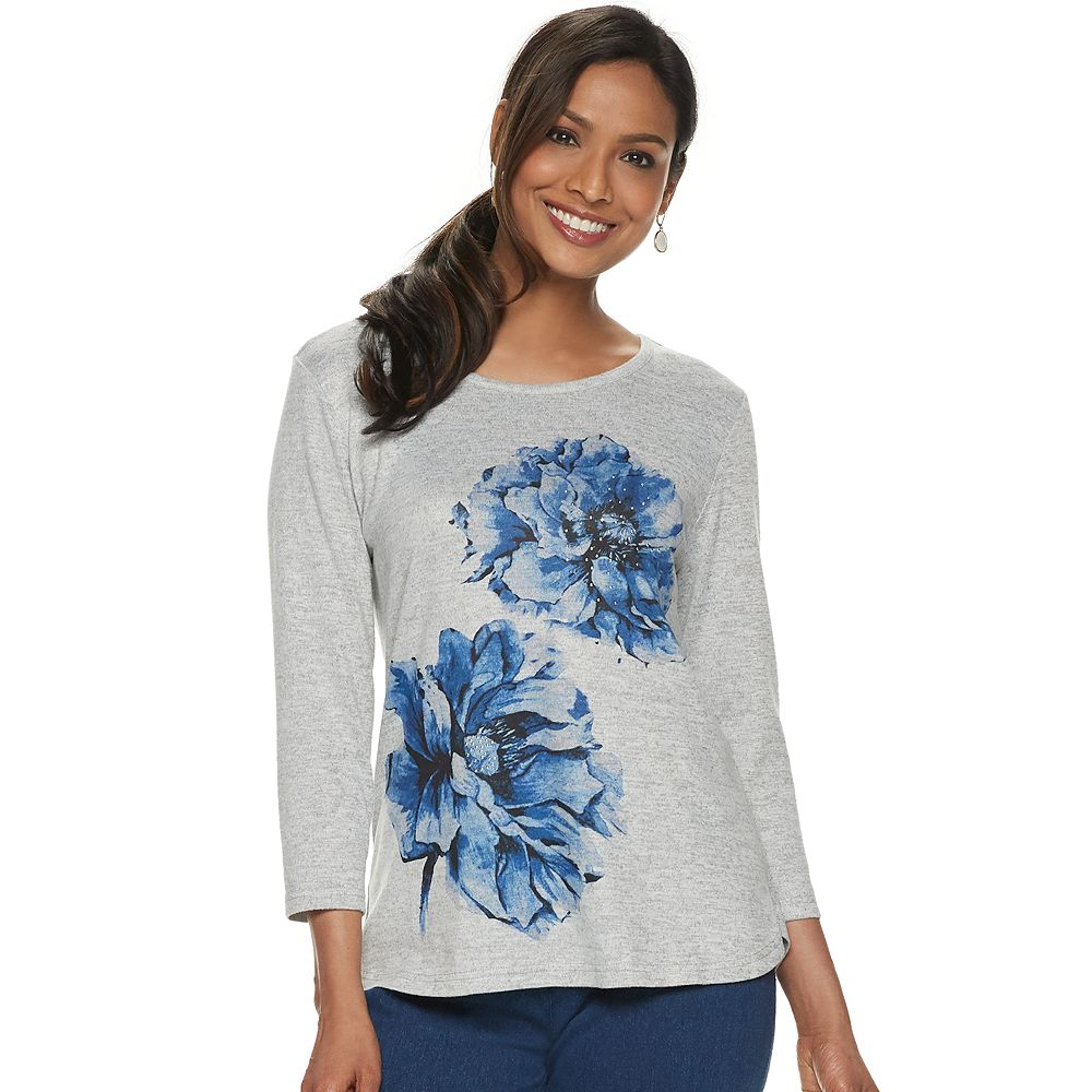 Women's Cathy Daniels Floral Graphic Sweater