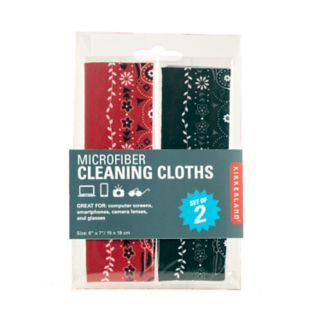 Kikkerland 2-pack Microfiber Cleaning Cloths