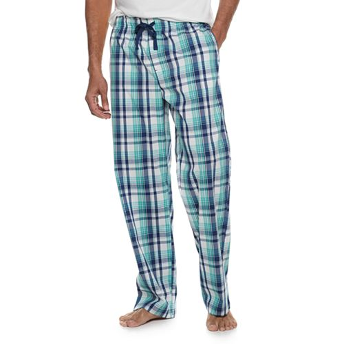 Men's Croft & Barrow® Plaid Stretch Woven Pajama Pants