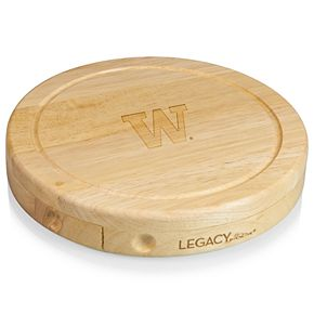 Washington Huskies Brie Cheese Cutting Board Set