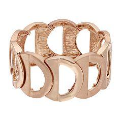 18 BIRCH MRKT Rose Gold Tone Half Circle Stretch Bracelet