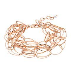 18 BIRCH MRKT Rose Gold Tone Link Detail Adjustable Bracelet