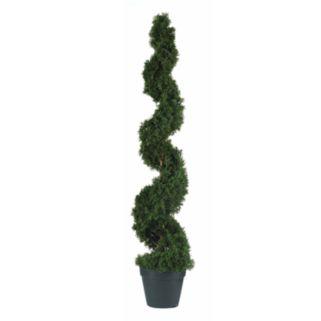nearly natural 4-ft. Silk Cedar Spiral Tree