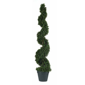 nearly natural 4-ft. Silk Cedar Spiral Tree