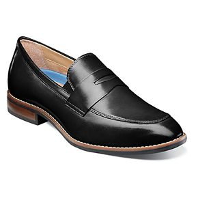 Nunn Bush Fifth Ave Flex Men?s Moc Toe Dress Penny Loafers