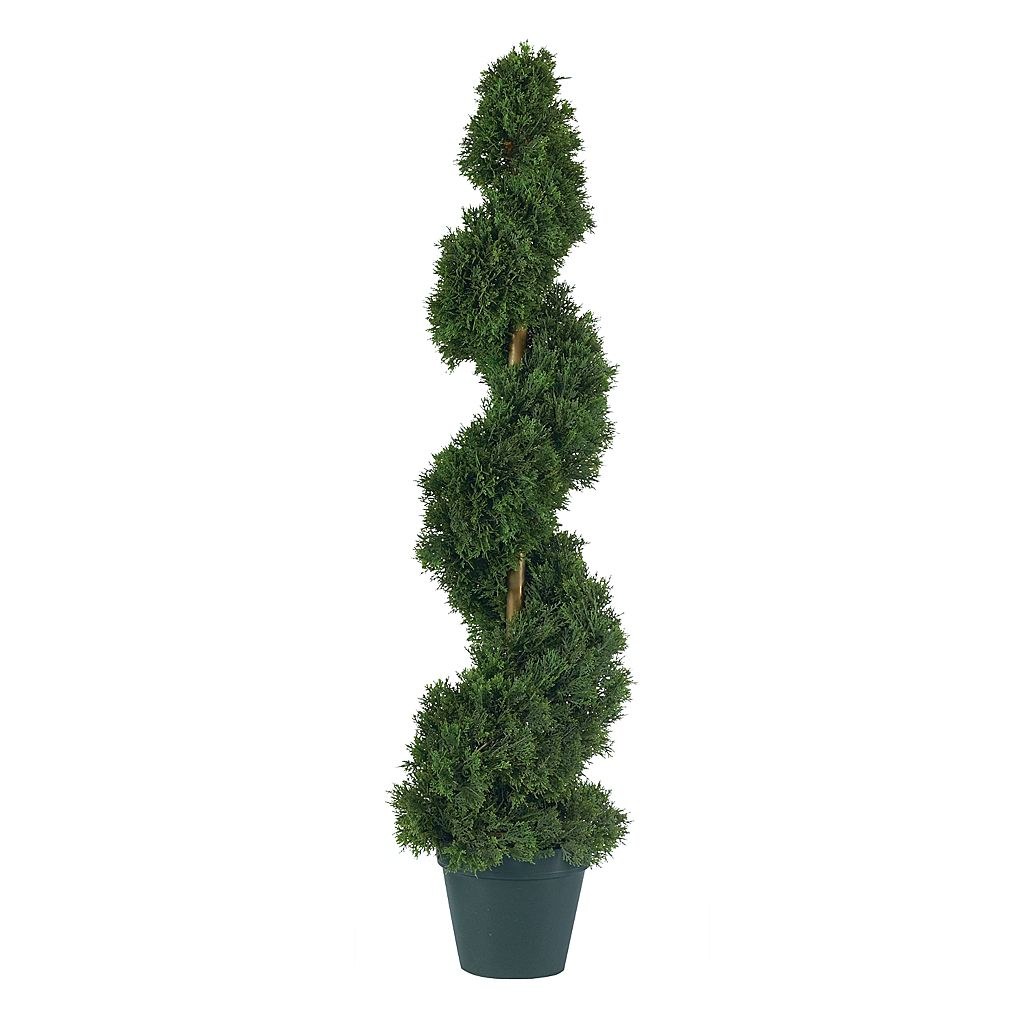 nearly natural 3-ft. Silk Cedar Spiral Tree