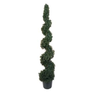 nearly natural 5-ft. Silk Cedar Spiral Tree