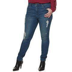 Plus Size Jennifer Lopez Lopez Midrise Skinny Jeans