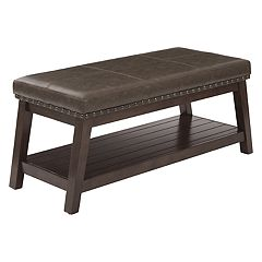 Avenue Six Emery Bonded Leather Entryway Bench
