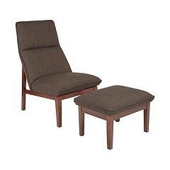 Avenue Six Cameron Accent Chair & Ottoman 2-piece Set