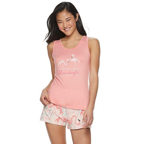 Women's Be Yourself Knit Tank & Shorts Pajama Set