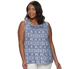 Women's Croft & Barrow® Sleeveless Pintuck Top