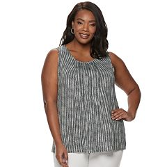 Plus Size Croft & Barrow® Sleeveless Pintuck Top
