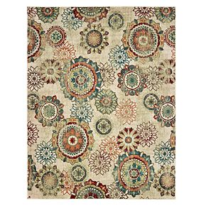 StyleHaven Distressed Floral Medallions Rug