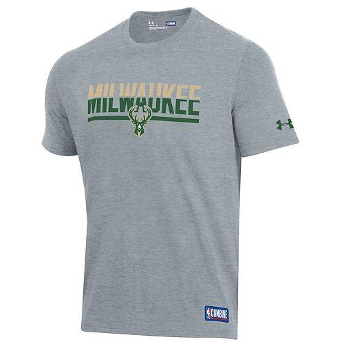 on sale 4afbe 95aa4 Men's Under Armour Milwaukee Bucks Split City Tee