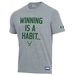 Men's Under Armour Milwaukee Bucks Winning Is A Habit Tee