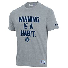 Men's Under Armour Minnesota Timberwolves Winning Is A Habit Tee