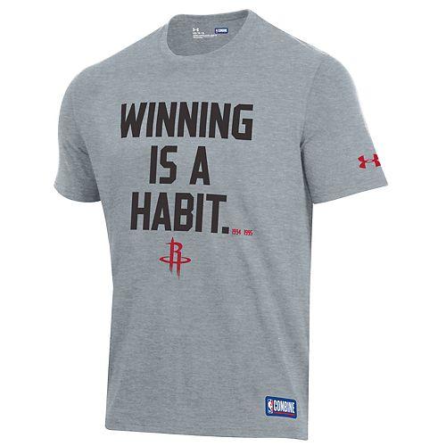 Men's Under Armour Houston Rockets Winning Is A Habit Tee