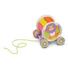 Melissa & Doug First Play Pull and Play Musical Rainbow Xylophone Wooden Pull Toy
