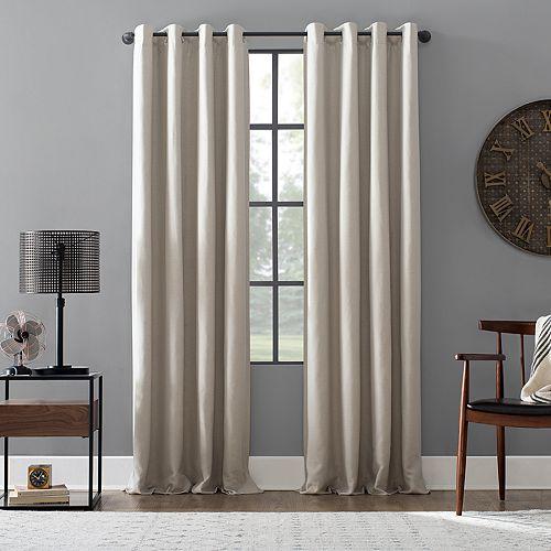 Archaeo Linen Blend Blackout Grommet Curtain Panel