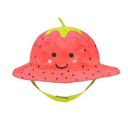Baby Girl Strawberry Bucket Hat
