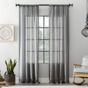 Archaeo Textured Cotton Blend Sheer Window Curtain