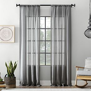 Archaeo Textured Cotton Blend Sheer Window Curtain