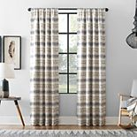 Archaeo Ikat Stripe Cotton Blend Blackout Window Curtain