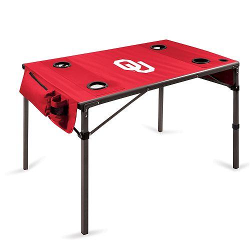 Picnic Time Oklahoma Sooners Portable Folding Table