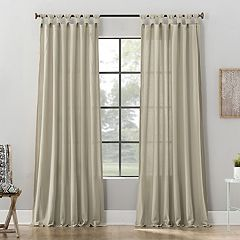 Archaeo 1-panel Washed Cotton Twist Tab Window Curtain