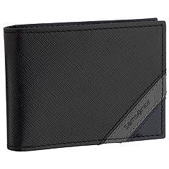 Men's Samsonite Shaded RFID-Blocking Front-Pocket Leather Slimfold Wallet