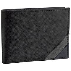 Men's Samsonite RFID-Blocking Leather Bi-Fold Wallet with Zippered Pocket