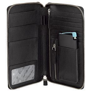 Men's Samsonite RFID-Blocking Leather Travel Folio with Battery