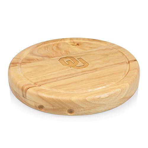 Picnic Time Oklahoma Sooners Circo Cheese Cutting Board Set