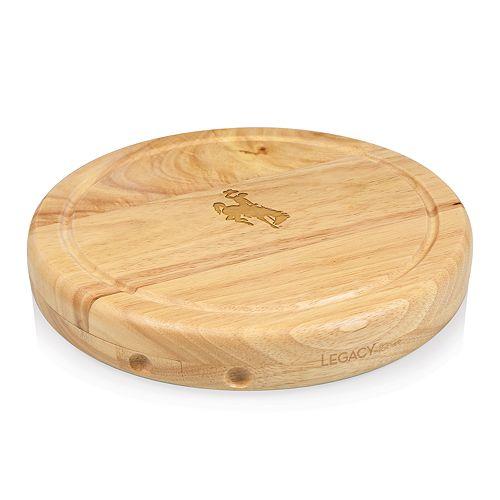 Picnic Time Wyoming Cowboys Circo Cheese Cutting Board Set