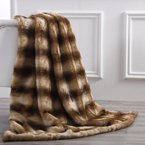 Classic Elegance Faux Fur Throw