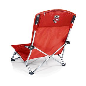 Picnic Time Wisconsin Badgers Tranquility Portable Beach Chair
